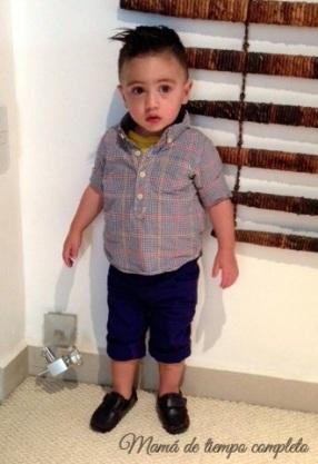 Camisa y pantalones de Baby Gap. Mocasines de Mini Burbujas.